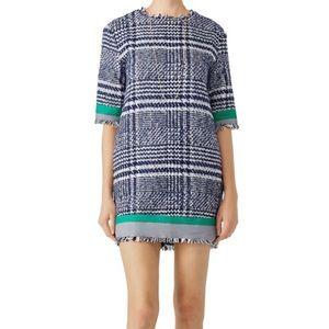 English Factory Tweed Grid Shift Dress NWT
